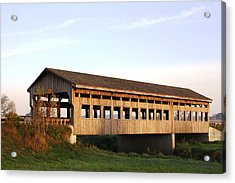 Covered Bridge To Rockwood Acrylic Print by Bruce Bley