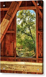 Acrylic Print featuring the photograph Covered Bridge Window by James Eddy