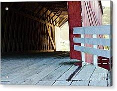 Covered Bridge, Winterset, Iowa Acrylic Print by Wilma Birdwell