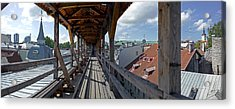 Covered Bridge With St Olafs Church Acrylic Print by Panoramic Images