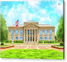 Acrylic Print featuring the mixed media Covington County Courthouse - Andalusia Alabama by Mark Tisdale