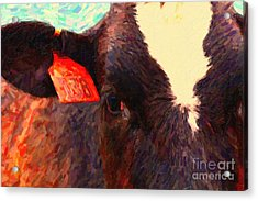 Cow 138 Reinterpreted Acrylic Print by Wingsdomain Art and Photography