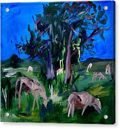 Cow Pasture   Neptune Road Acrylic Print by Ellen Seymour