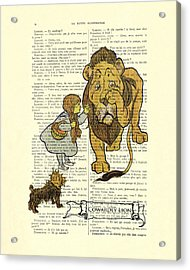 Cowardly Lion, The Wizard Of Oz Scene Acrylic Print