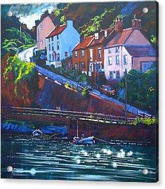 Cowbar - Staithes Acrylic Print by Neil McBride