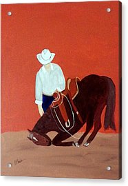 Cowboy And His Horse Acrylic Print