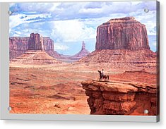 Cowboy In Monument Valley Acrylic Print by Kantor