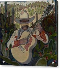 Cowboy In The Cactus Acrylic Print