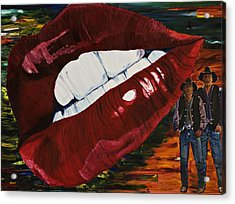 Cowboy Lips Acrylic Print by Gregory Allen Page