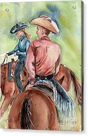 Cowboy, Looking Back Acrylic Print