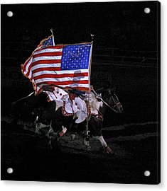 Cowboy Patriots Acrylic Print by Ron White