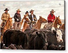 Cowboy Posse Acrylic Print by Todd Klassy