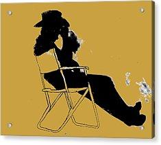 Cowboy Silhouette Acrylic Print