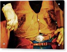 Cowboy Style Acrylic Print by Nick Sokoloff