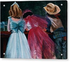 Cowboys And Queens Acrylic Print by Victoria Heryet