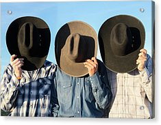 Cowboys Anonymous Acrylic Print by Todd Klassy