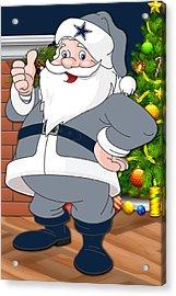 Cowboys Santa Claus Acrylic Print by Joe Hamilton