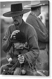 Cowboys Signature 5 Acrylic Print by Diane Bohna