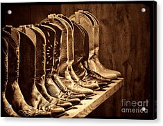 Cowgirl Boots Collection Acrylic Print by American West Legend By Olivier Le Queinec