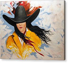 Cowgirl Colors #3 Acrylic Print by Lance Headlee