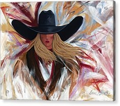 Cowgirl Colors Acrylic Print by Lance Headlee