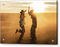 Cowgirl Dance Acrylic Print by Todd Klassy