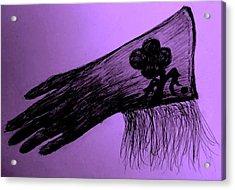 Cowgirl Glove Plum Classy Acrylic Print by Susan Gahr