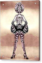Cowgirl Acrylic Print by Peter Lloyd