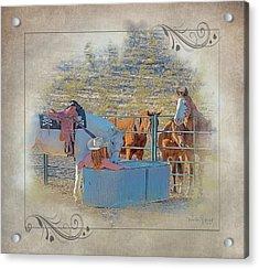 Cowgirl Spa 5p Of 6 Acrylic Print