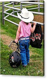 Cowgirl Up Acrylic Print by Greg Martin
