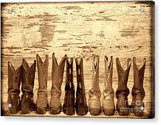 Cowgirls Night Out Acrylic Print by American West Legend By Olivier Le Queinec
