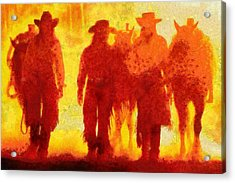 Cowpeople Acrylic Print by Caito Junqueira