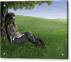 Cowslip Maiden Acrylic Print