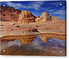 Coyote Butte Reflections Acrylic Print by Mike  Dawson