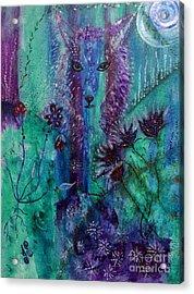 Coyote Spirit Acrylic Print by Julie Engelhardt