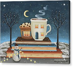 Cozy Cafe Acrylic Print by Mary Charles