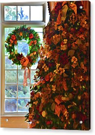 Acrylic Print featuring the photograph Cozy Christmas by Diane Alexander