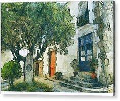 Cozy Garden, Sant Pol De Mar, Spain Acrylic Print by Evgeny Leonov