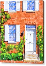 Cozy Rowhouse Style Acrylic Print by Mark Tisdale