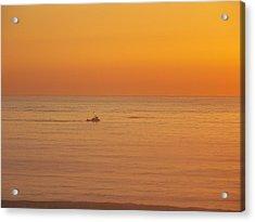 Crab Boat At Sunset Acrylic Print