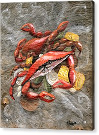 Crab Boil Acrylic Print by Elaine Hodges