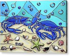 Crab Conversation Acrylic Print