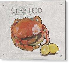 Crab Feed Acrylic Print by Brad Burns