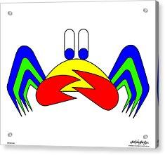 Crab-mac-claw Acrylic Print by Asbjorn Lonvig