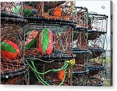 Crab Pots Acrylic Print