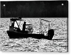 Crabbing On The Pamlico Acrylic Print