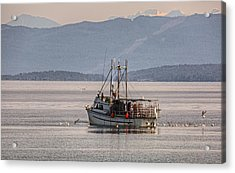 Crabbing Acrylic Print by Randy Hall