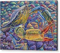 Crabby Acrylic Print by David Joyner