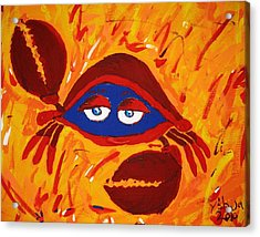 Crabby Acrylic Print by Yshua The Painter