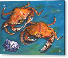 Crabs Acrylic Print by Susan Thomas